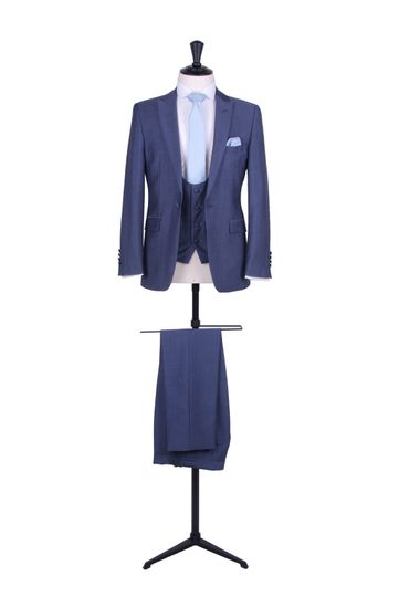 Steel blue hire suit