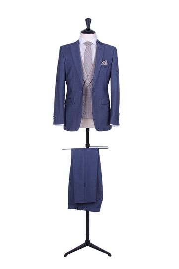 Steel blue mohair lounge suit