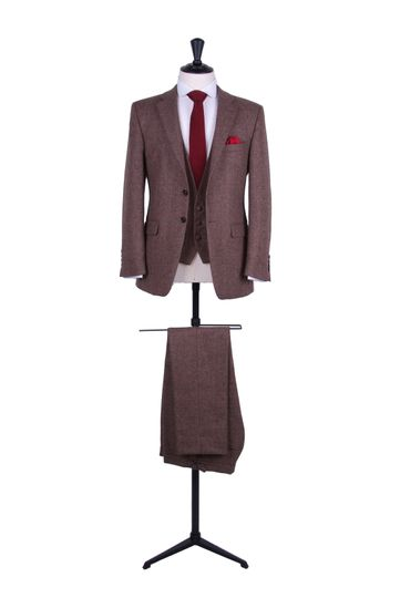 Tweed lounge suit