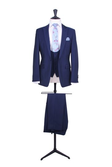 Royal blue lounge suit
