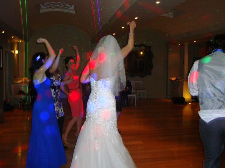 Bride having a boogie