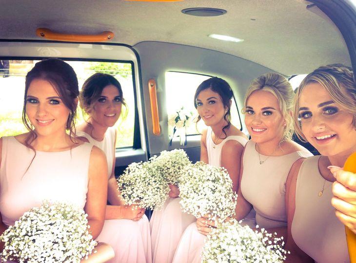 Wedding party en route