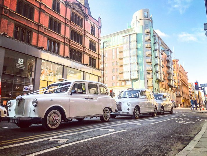 Classic and modern wedding cars