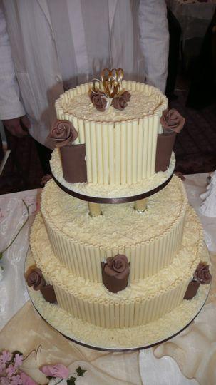 White Chocolate Cigarello Cake