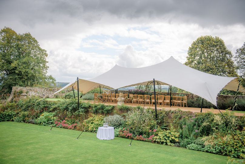 Semi-covered tent