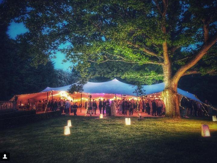Inviting tent lights