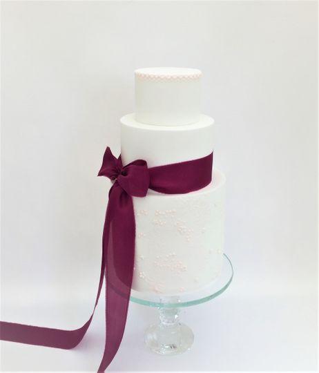 Mulberry Silk Ribbon Cake