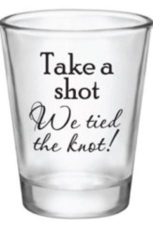 Shot glass as gifts or favours