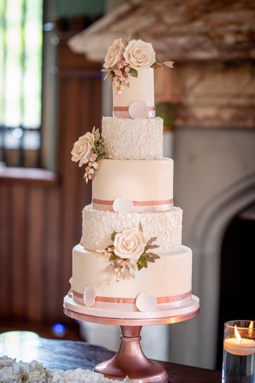 Blush romance wedding cake