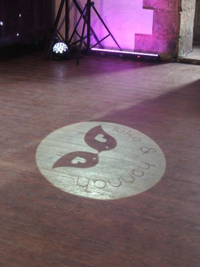 Our bespoke projected monogram service
