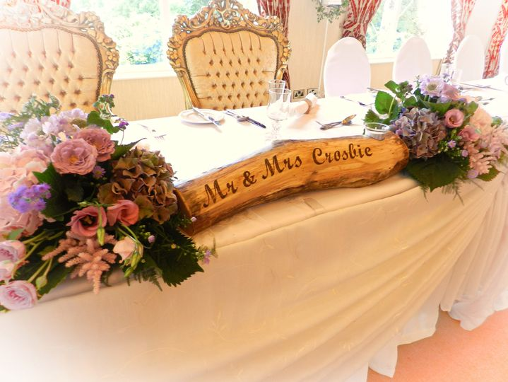 Personalised top table log