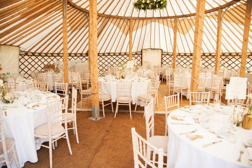 42ft Yurts seats 120 guests