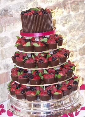 Berry cupcake tower