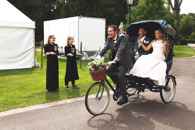 Surprise Rickshaw bike arrival