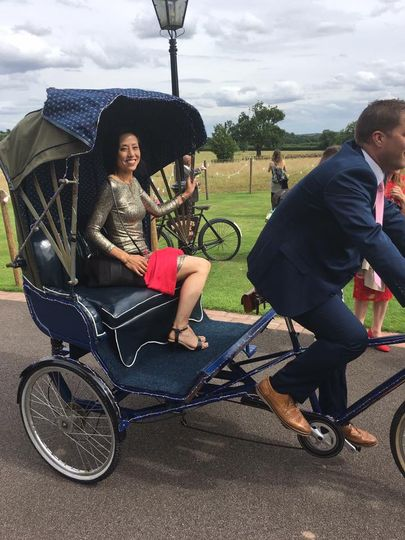 Romance in the Rickshaw bike