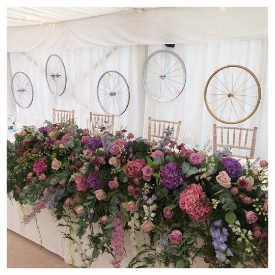 Top table wedding decor