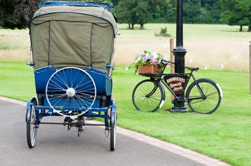 Vintage Rickshaw and bike
