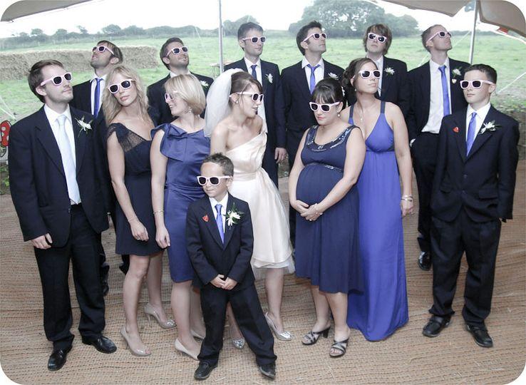 Wedding photography at the Farm, near Bridgend