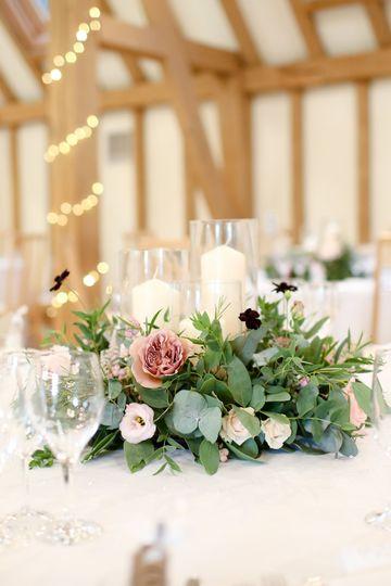 Foam Free Wedding Table Centre