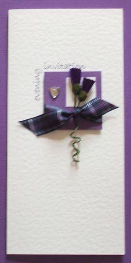 Purple thistles invitation
