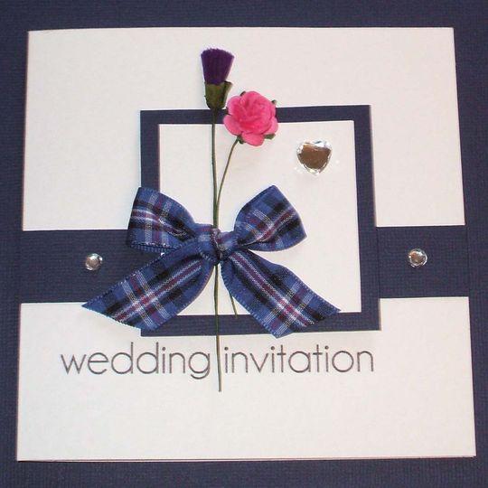 Rangers wedding invitation