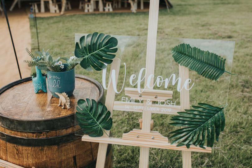 Tipi Wedding Decor Sign