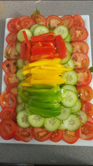 Small vegetable platter