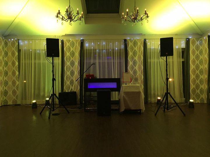 Set up prior to wedding set