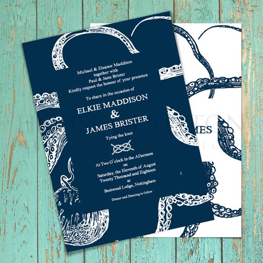 Octopus Wedding Stationery