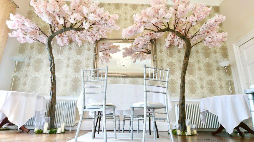 Cherry blossom arch in blush p
