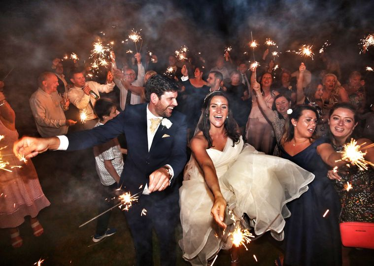 Sparkling newlyweds