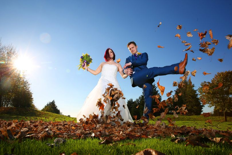 Autumnal wedding picture