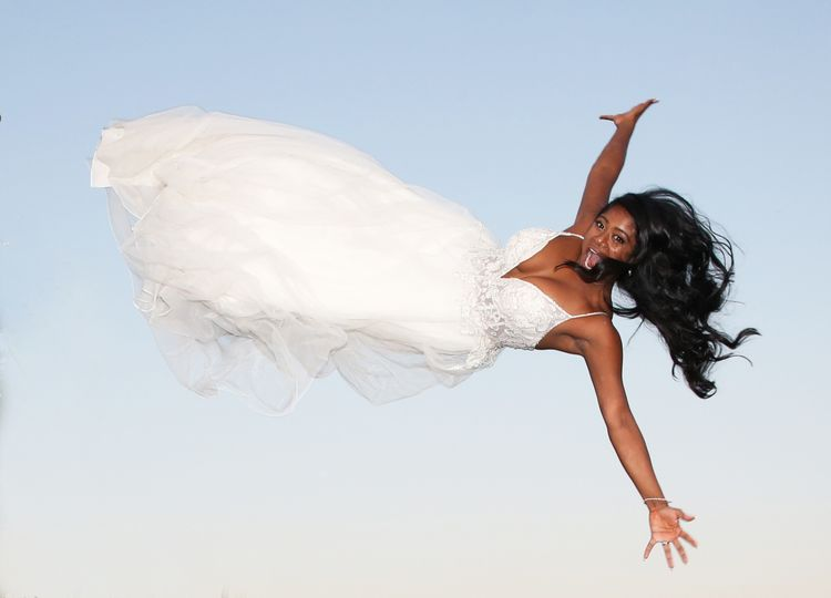 Flying newlywed
