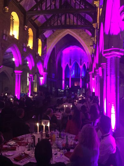 Cathedral party lighting