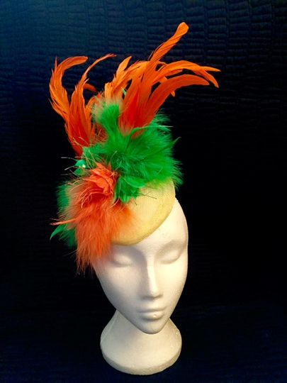 Orange and green feather