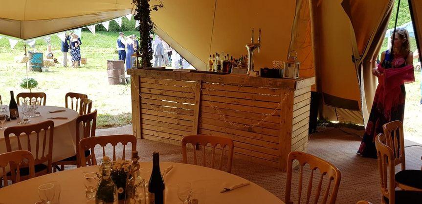Our beautiful Rustic Bar