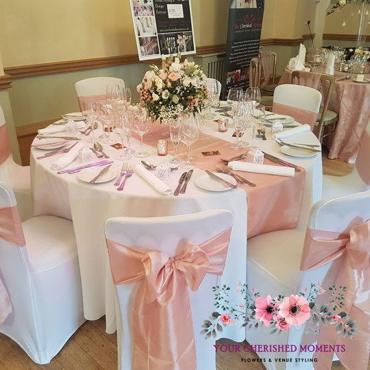 Blush Pink Table Dressing