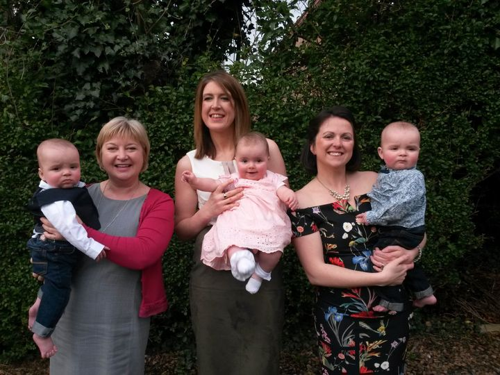 A naming ceremony for triplets