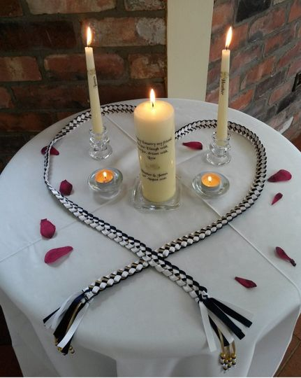 Hand fasting and unity candle