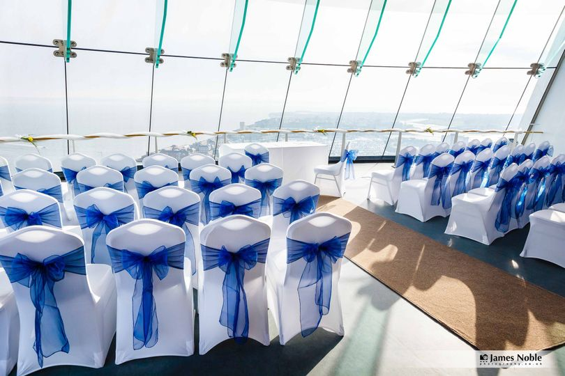 Ceremony layout on view deck 2