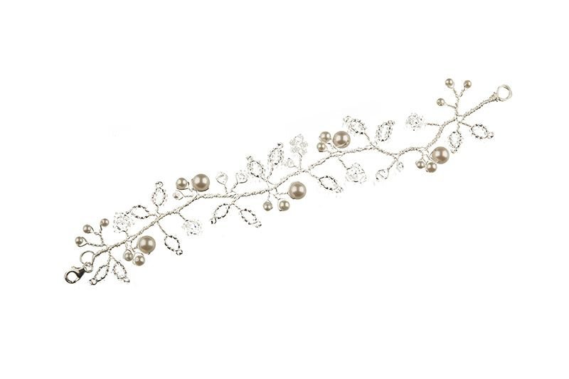 Crystal & Pearl Cuff Bracelet