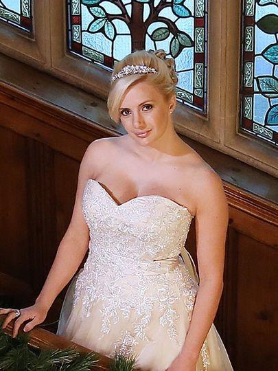 Bride at Stanhill Court
