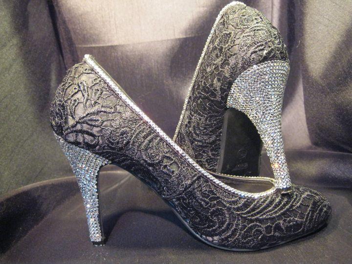 Full Swarovski crystal heel