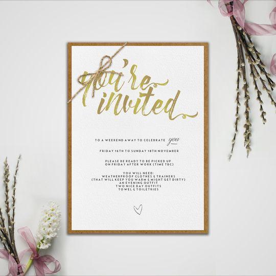 Wedding weekend invite
