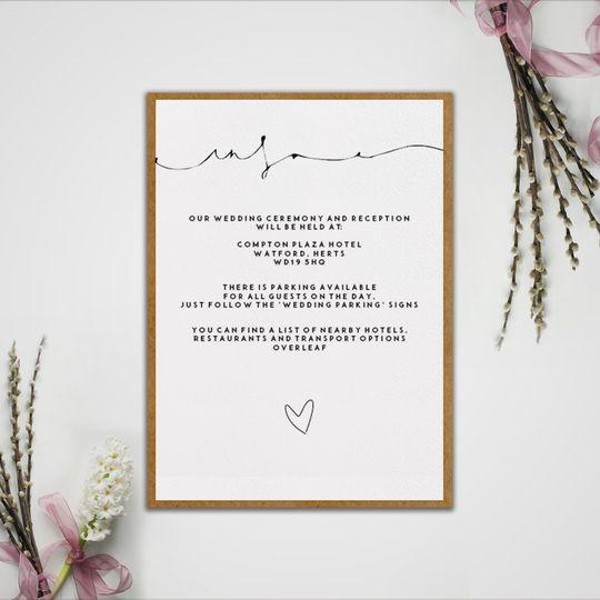 Ceremony and reception invite