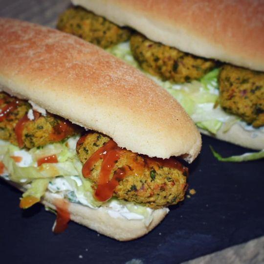 Falafel sub sandwich