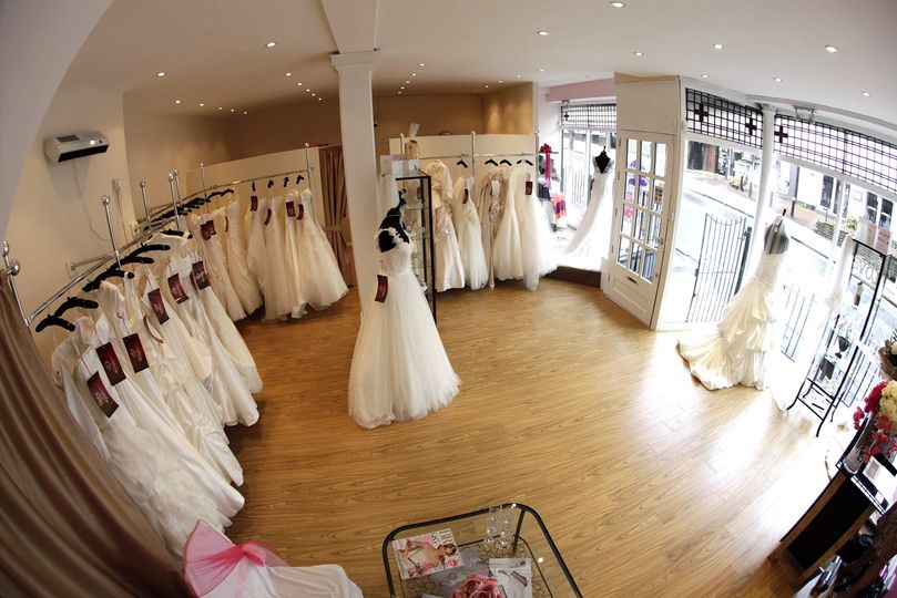 Our beautifully appointed bridal showroom