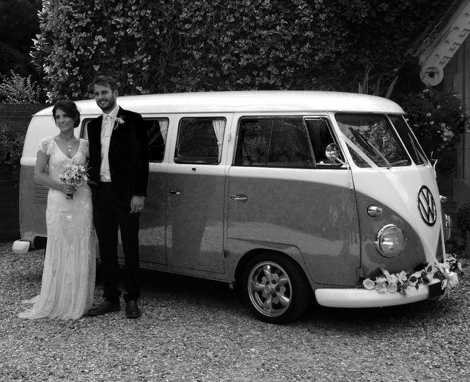 Vintage Campervan Wedding Car