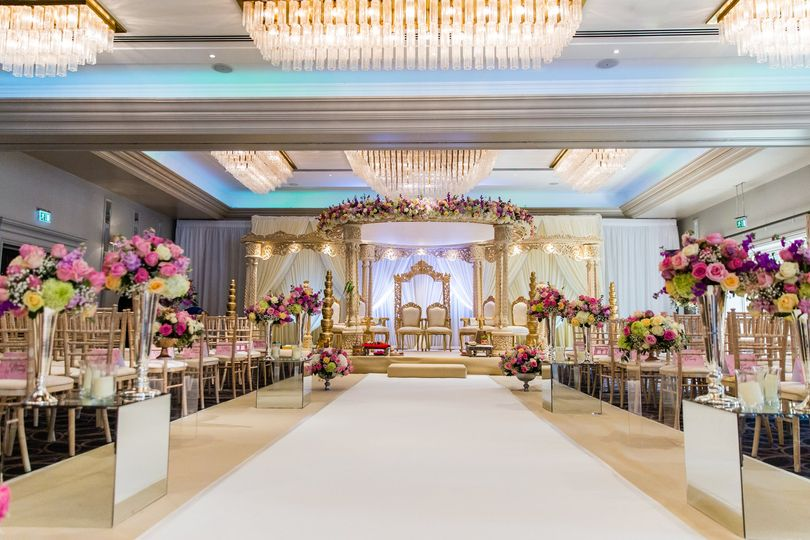 South Asian wedding mandap