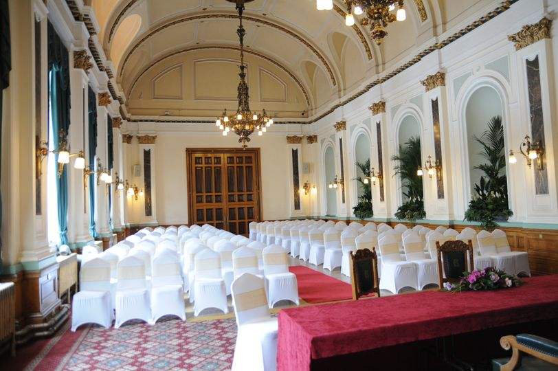 Drawing Room set-up for Civil Ceremony